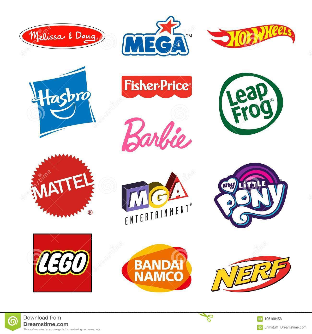 toy producers company logos editorial stock photo illustration of