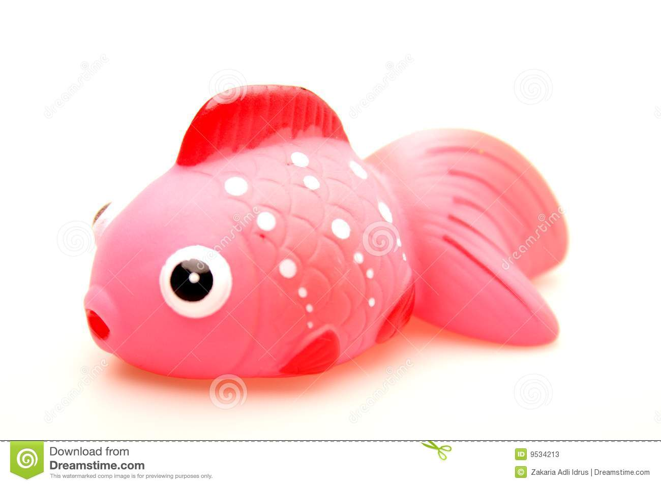 Toy red rubber fish stock image image of fish babies for Rubber fish toy