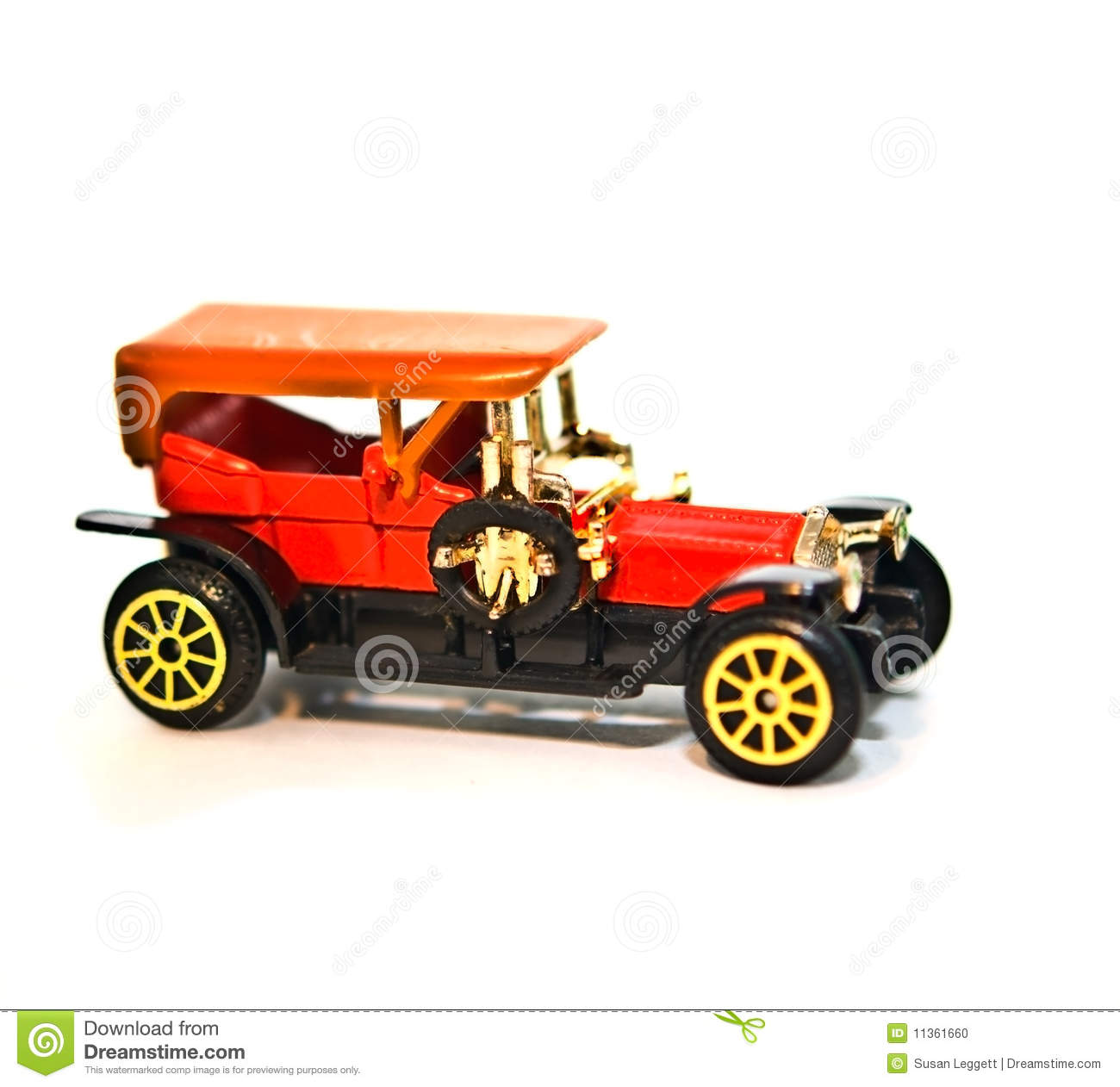 Toy Replica / Old Car Stock Photo. Image Of Automobile