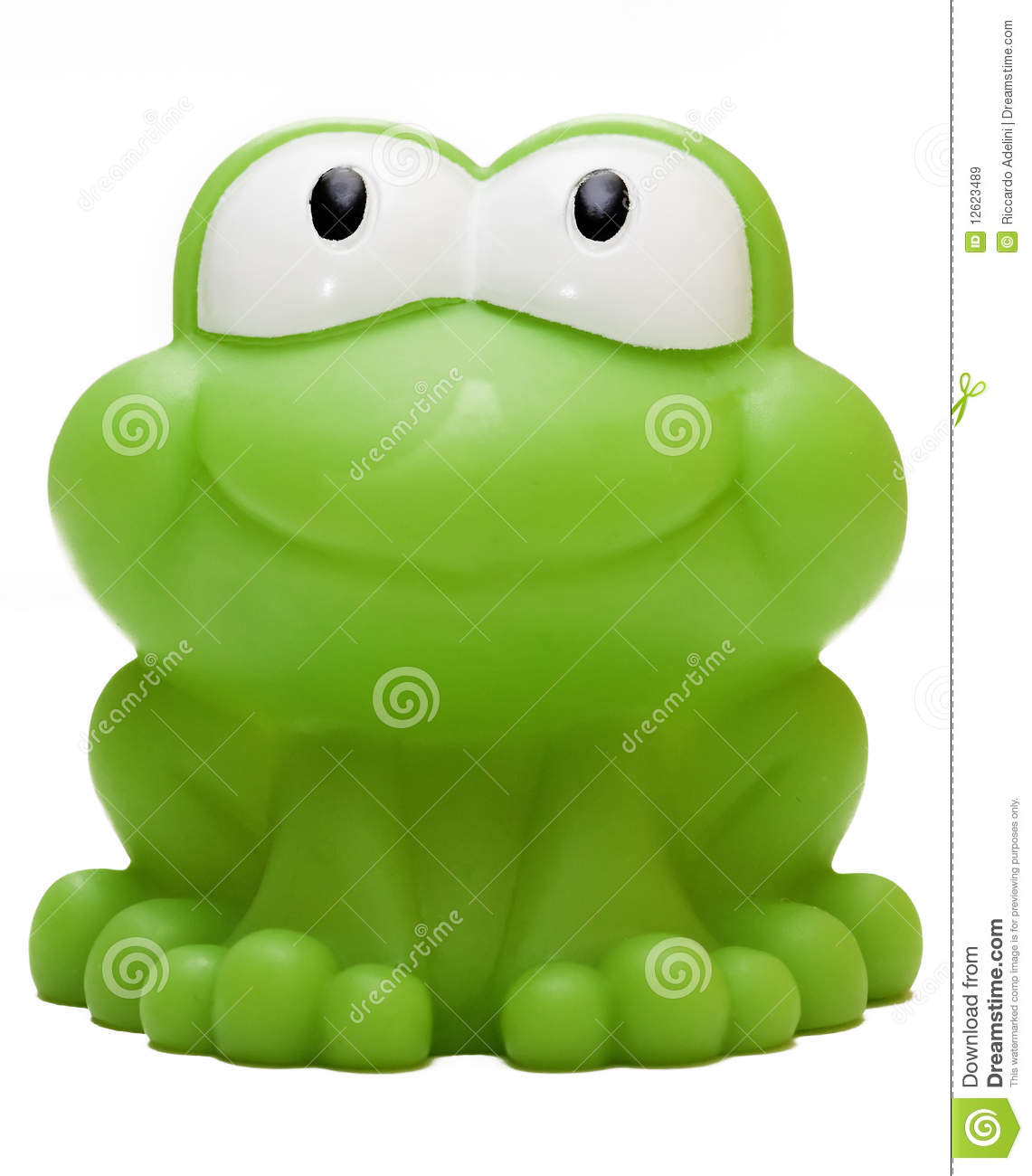 Toy Rubber Frog Isolated On White Background Royalty Free
