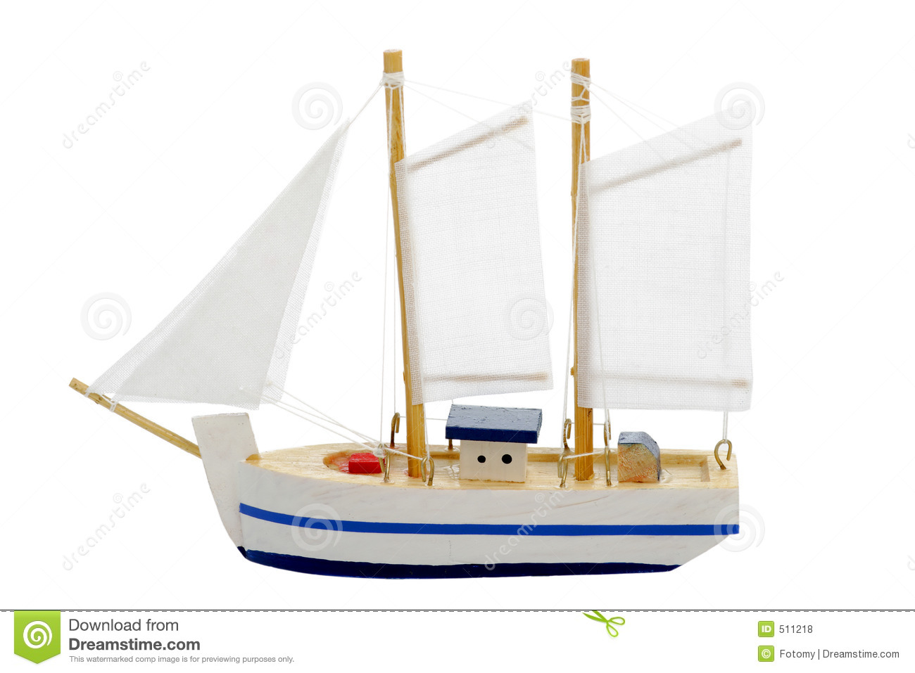 Toy Sailing Boat Royalty Free Stock Photos - Image: 511218