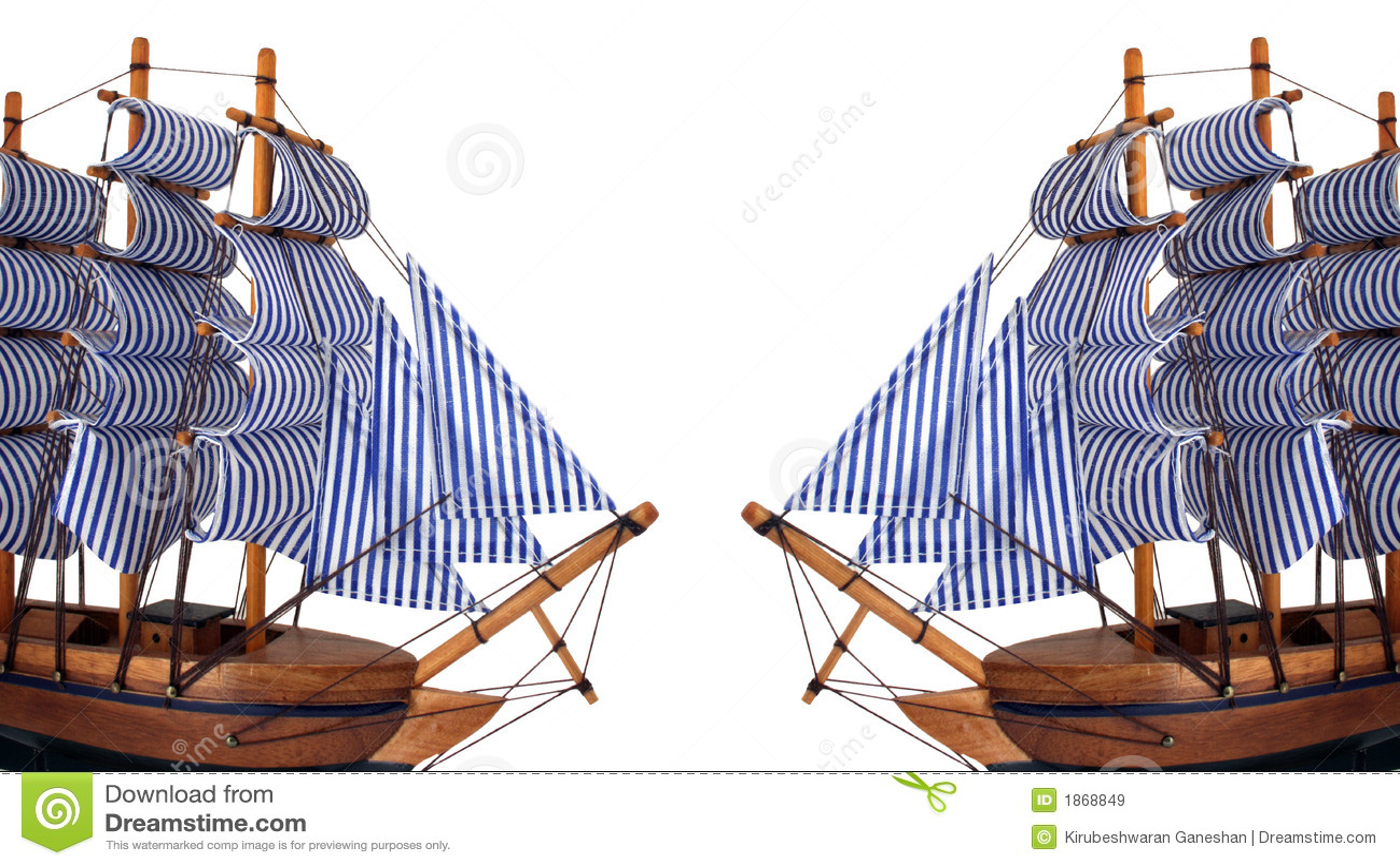Toy Sailing Boat On White Background Stock Image - Image of