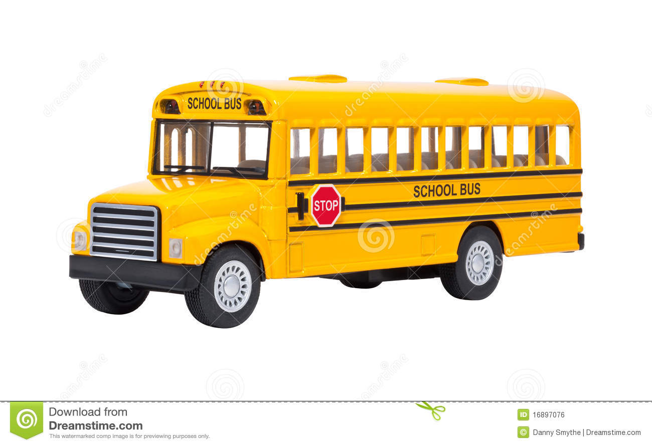 Toy School Bus isolated stock photo  Image of school - 16897076