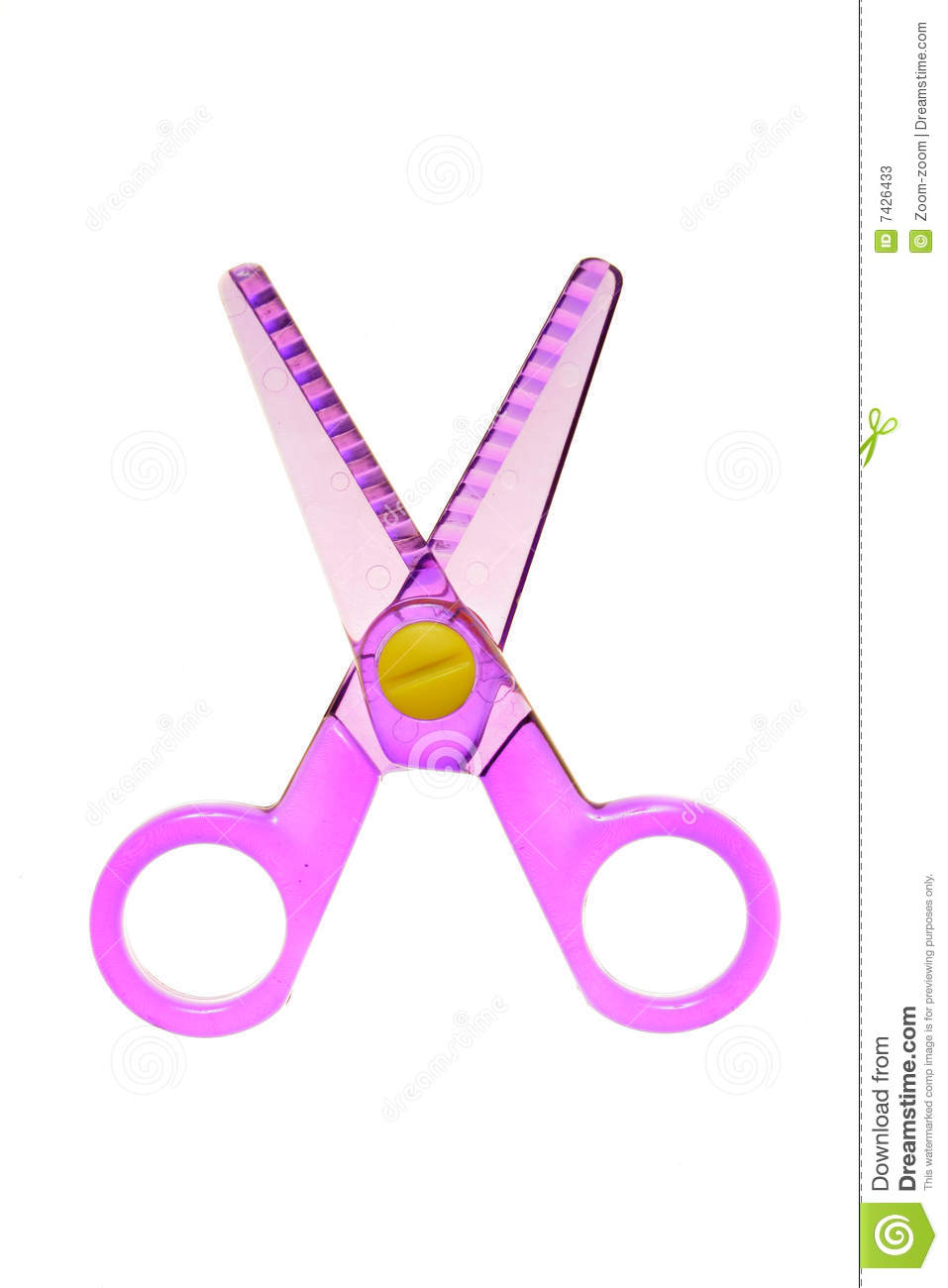 Download Toy scissors stock image. Image of instrument, child, blade - 7426433