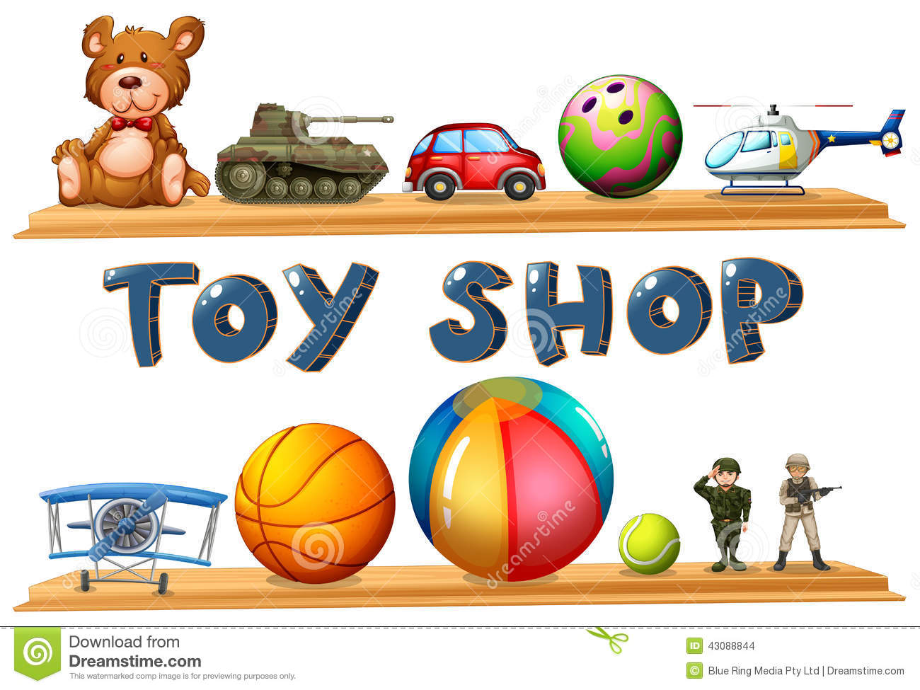 A Toy Shop Stock Vector - Image: 43088844