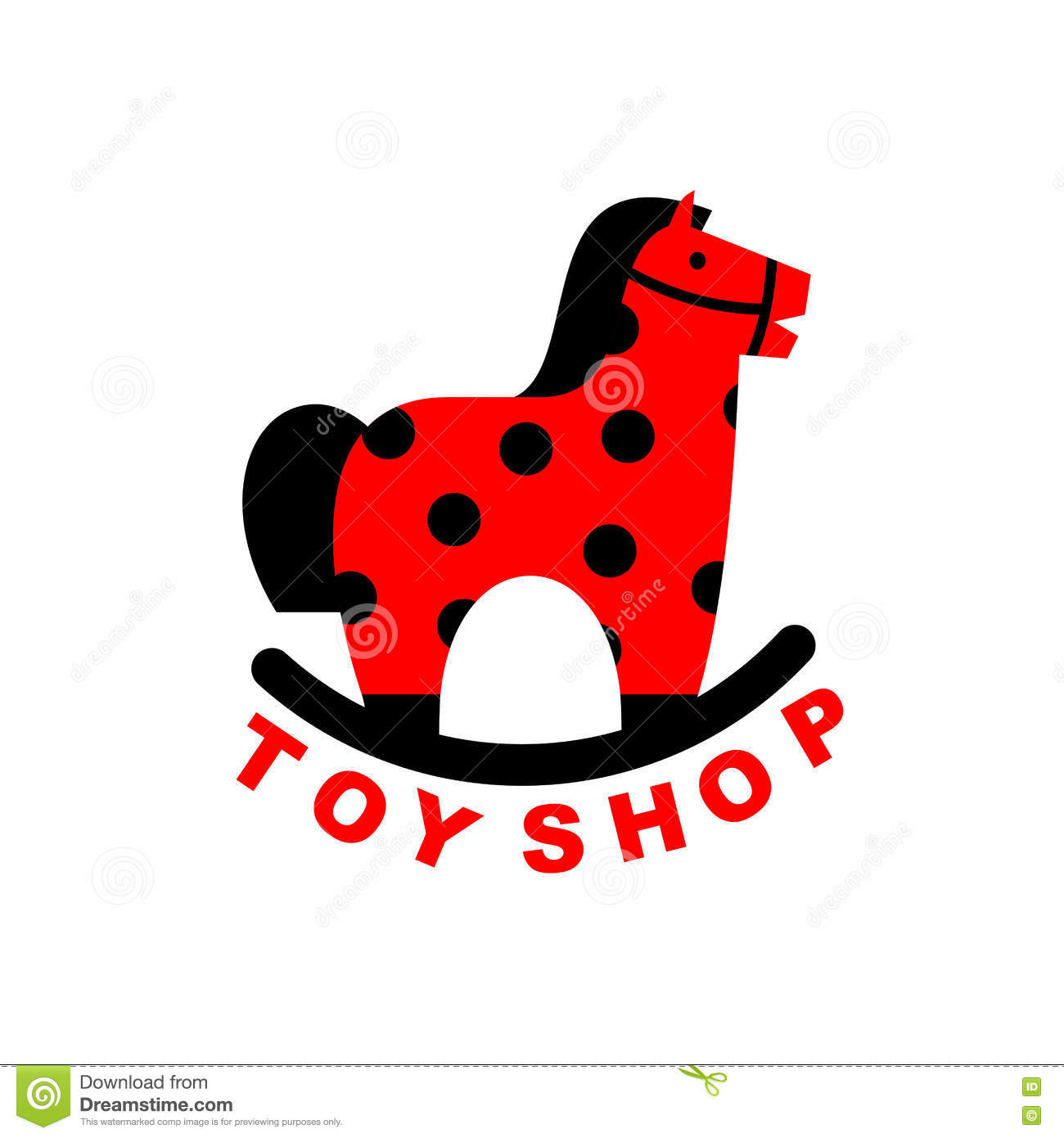 Toy Store Logo : Toy shop logo rocking horse kids apples hoss