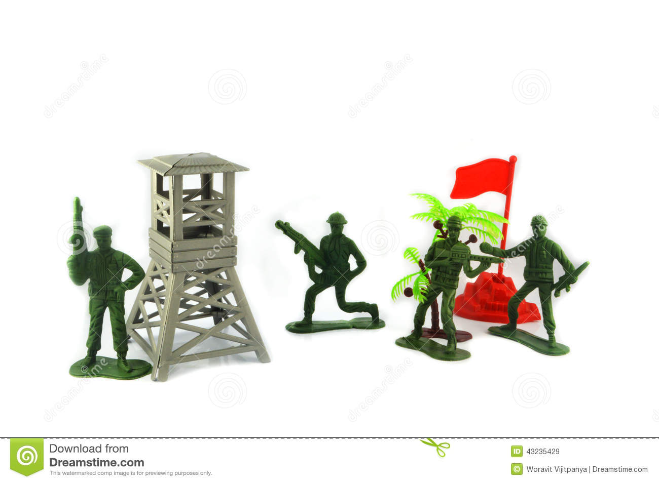 Toy Soldiers And Military Base Stock Photo - Image: 43235429
