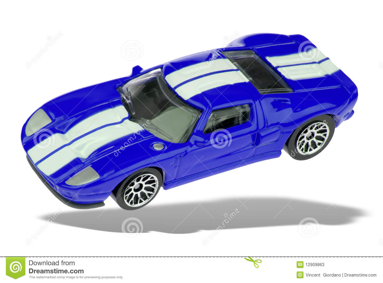 Silver Sports Car On White Background Top View Stock Illustration