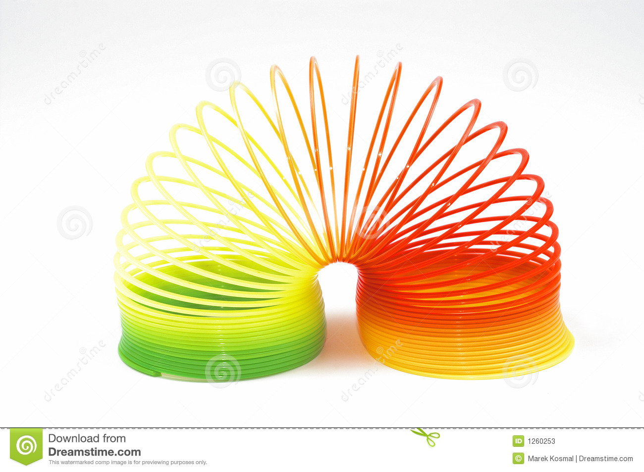 Toys For Spring : Toy spring stock image of colored hued