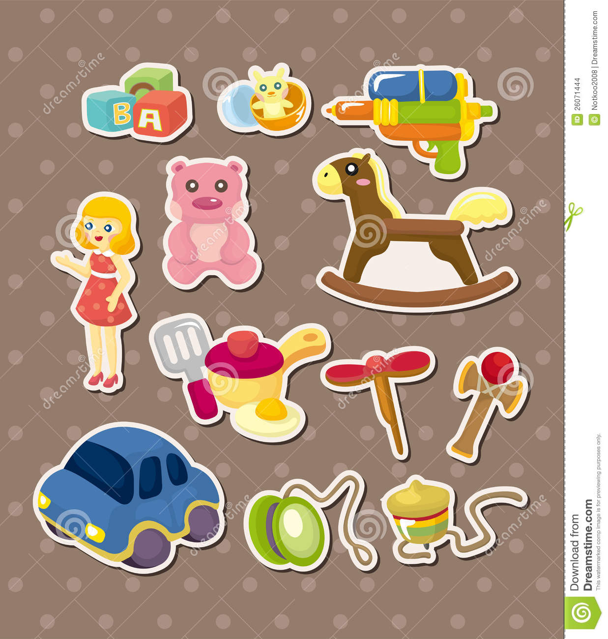 Toy Stickers Stock Images Image 26071444