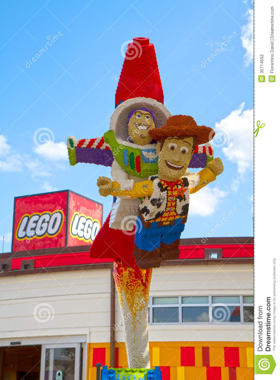 Toy Story Lego Statue Editorial Photography Image Of Buzz 35714552