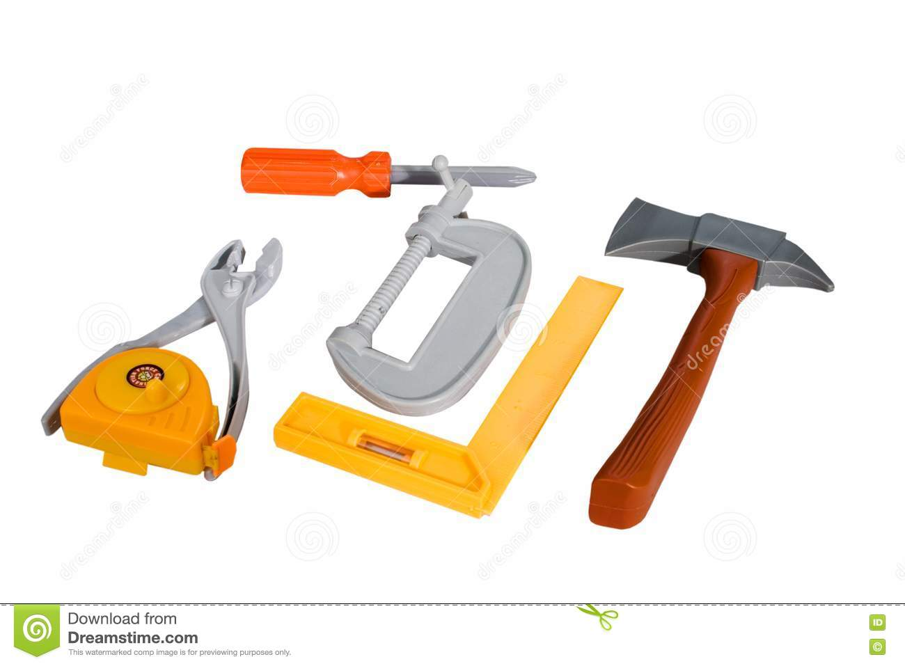 Plastic Toy Tools : Toy tool plastic royalty free stock photo image