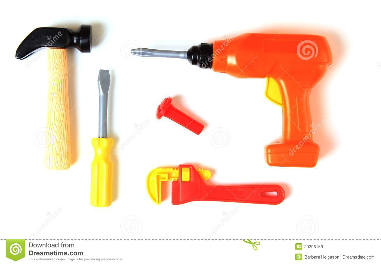 Plastic Toy Tools : Toy tools royalty free stock photos image