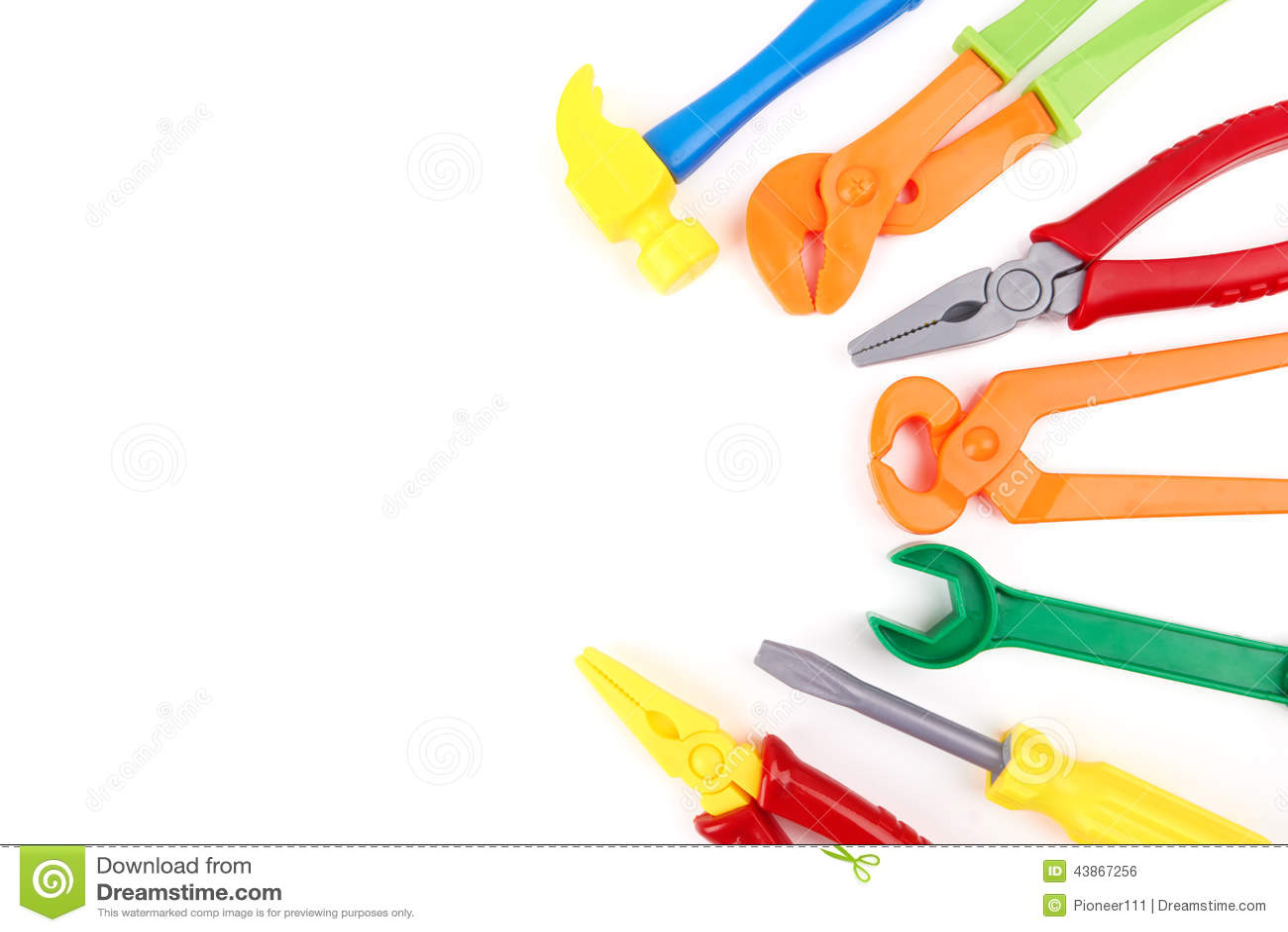 Plastic Toy Tools : Toy tools stock photo image