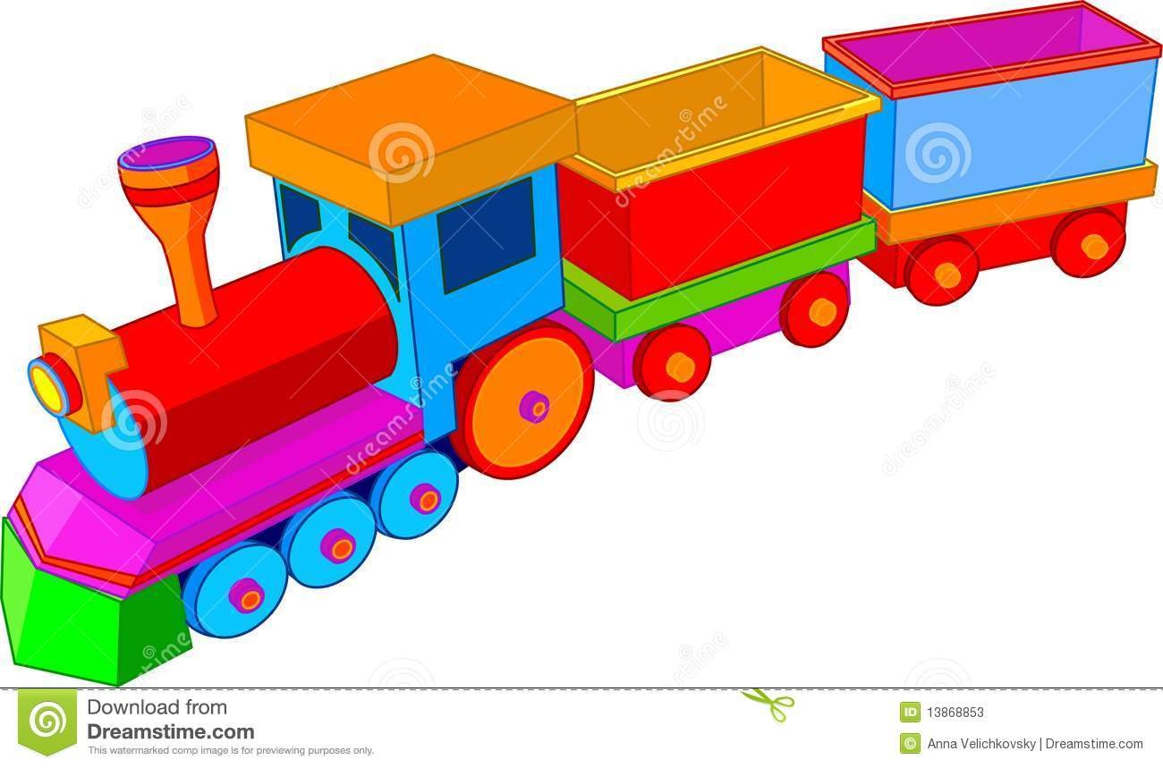 Toy Train Graphics : Toy train stock vector illustration of miniature