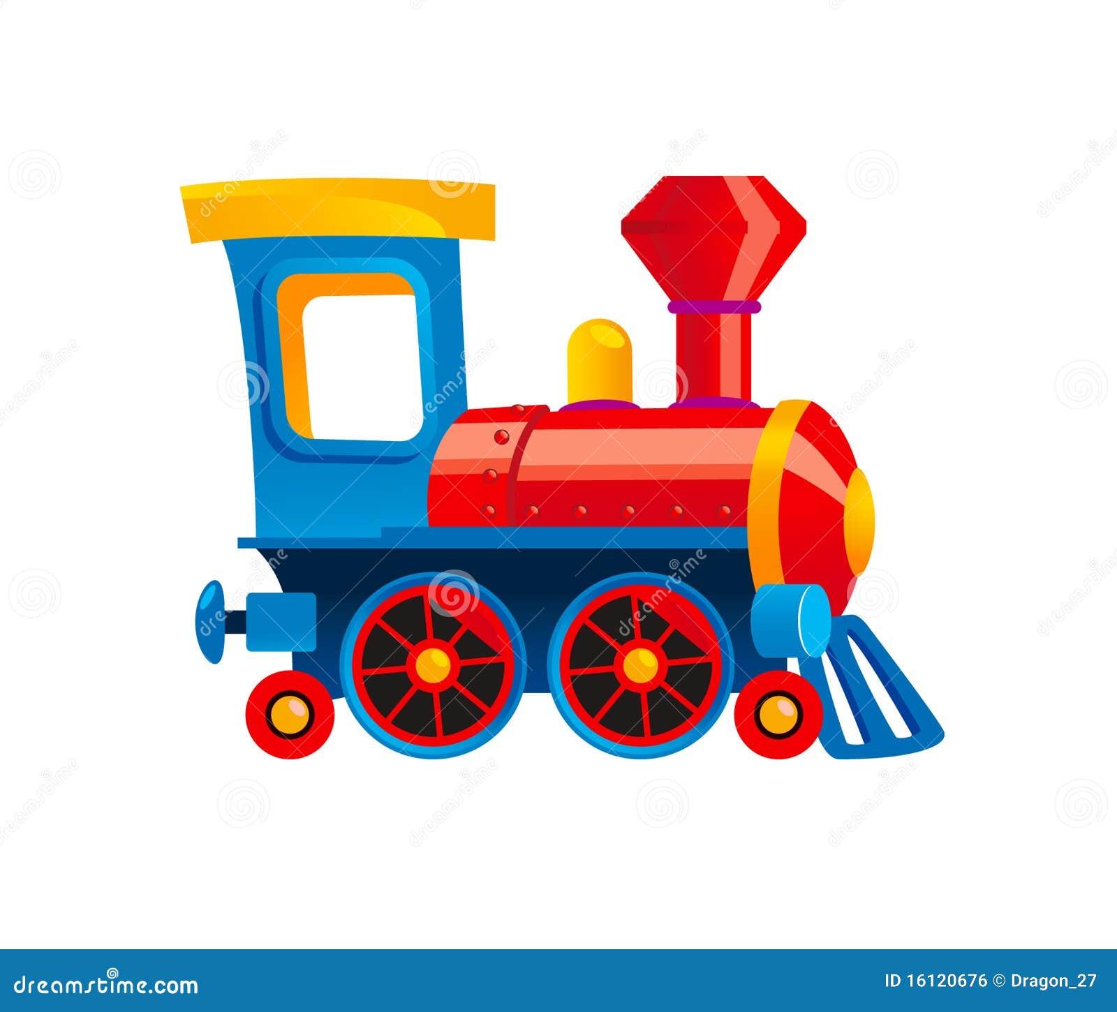 Toy Train Stock Vector Illustration Of Wheel Blue Cartoon 16120676