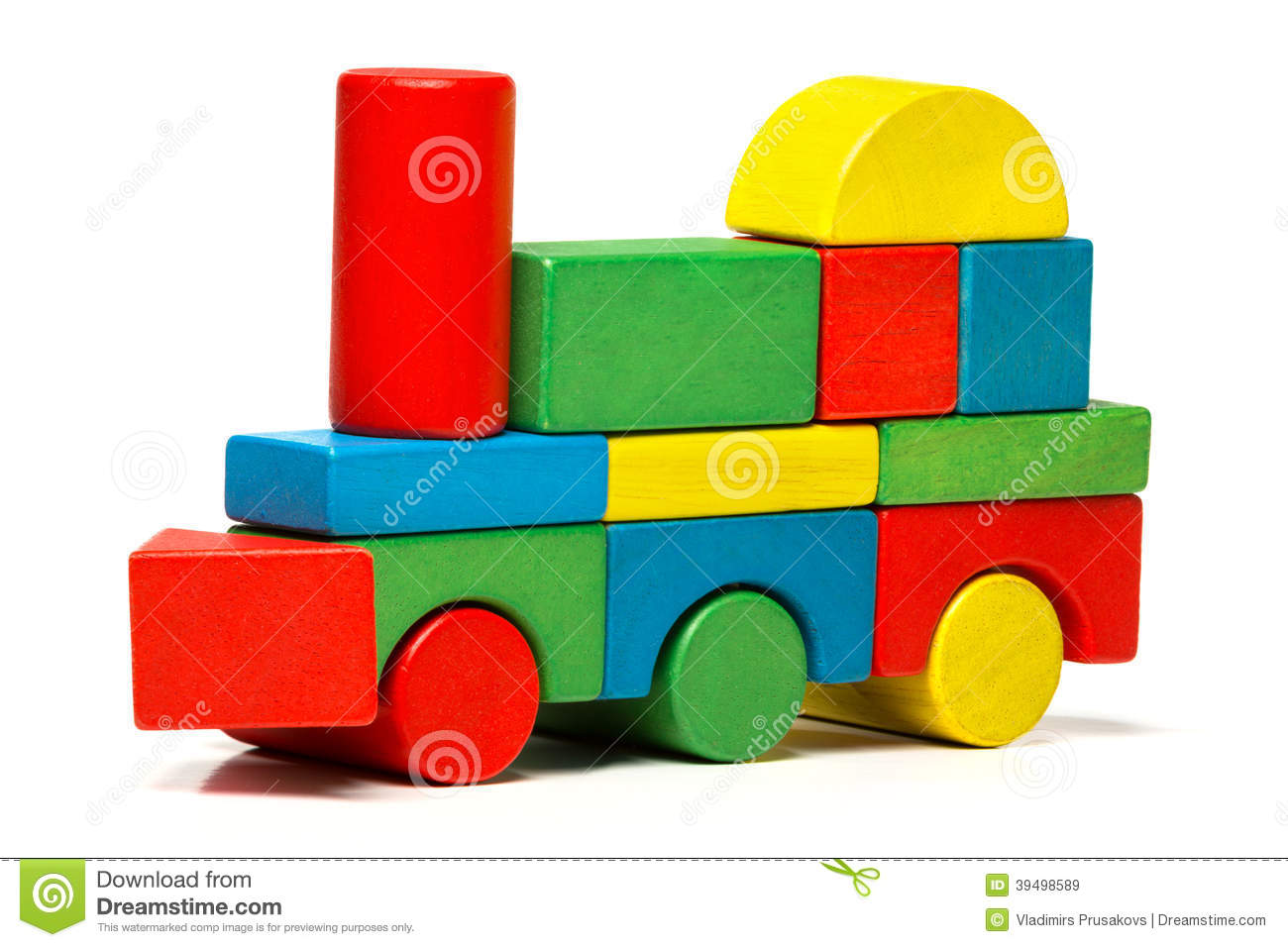 Royalty Free Stock Images Toy Train Multicolor Lo Otive Wooden Blocks ...