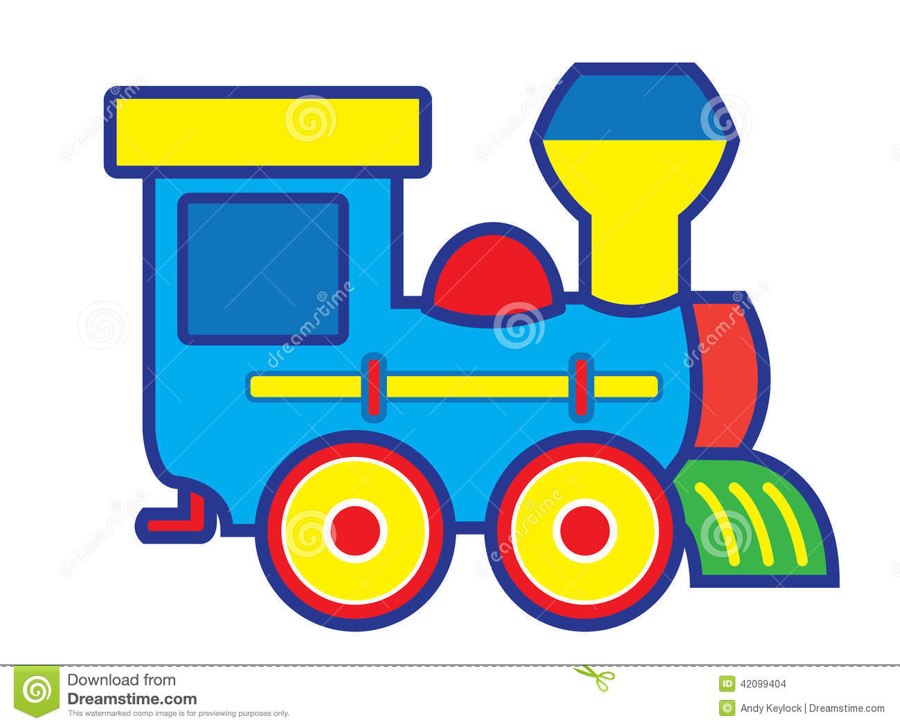 Toy Train Graphics : Toy train stock vector image of wheel artwork blue