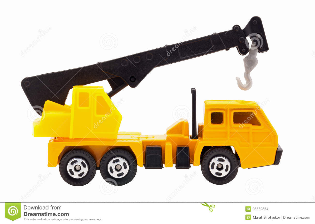 toy truck crane stock images