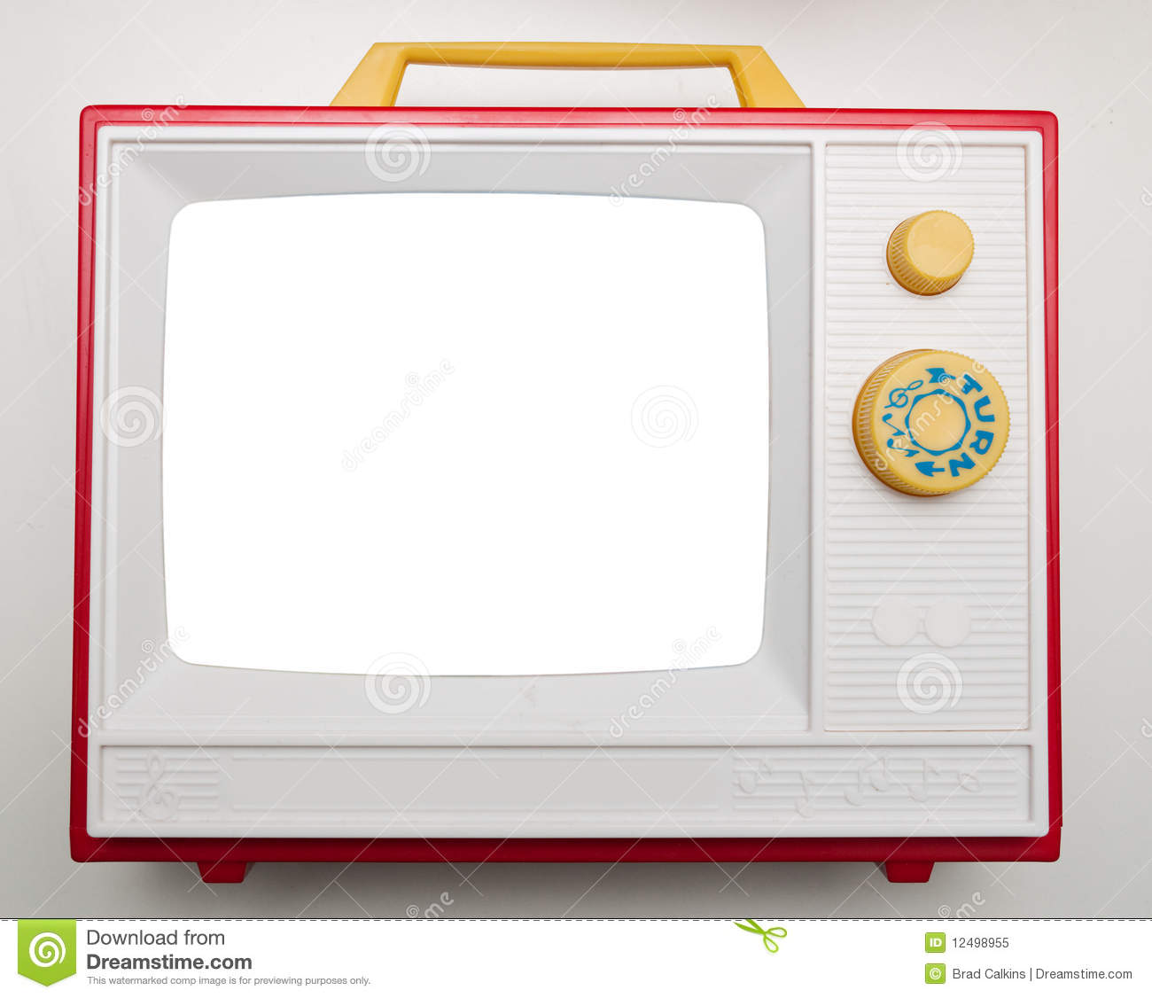 Toy TV Royalty Free Stock Photo - Image: 12498955