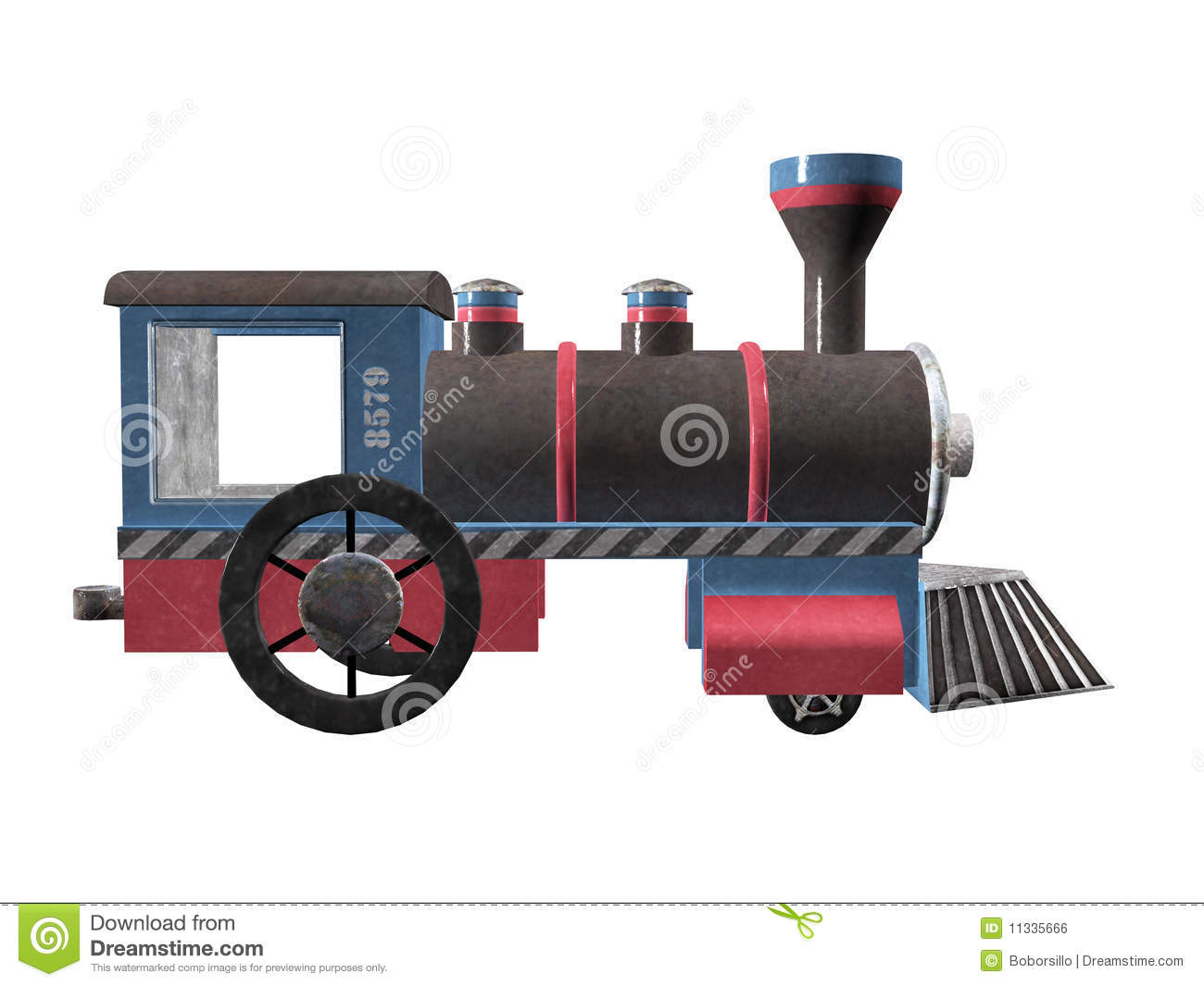 Toy Wodden Steam Engine Train Royalty Free Stock Image ...