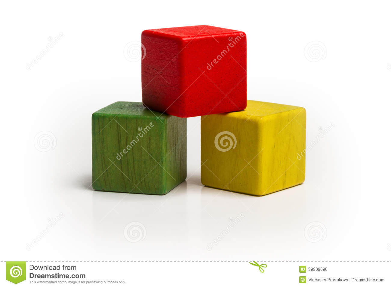 Toy Wooden Blocks Stack, Pyramid Multicolor Cube Stock Photo - Image ...