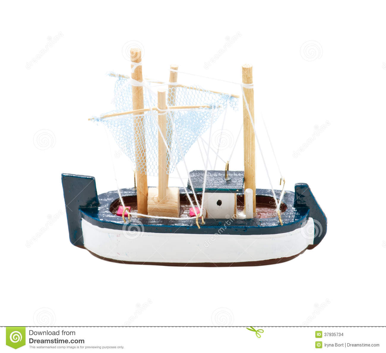 Toy Wooden Sail Boat