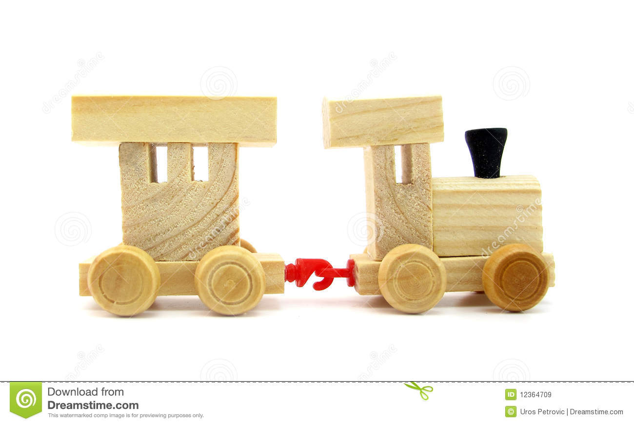 Toy Wooden Train Royalty Free Stock Images - Image: 12364709