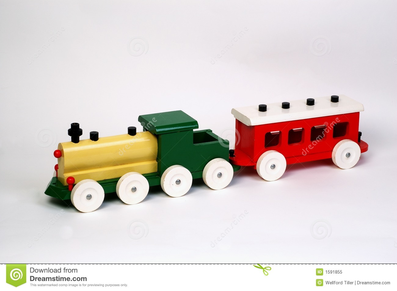 Toy Wooden Train Royalty Free Stock Photo - Image: 1591855
