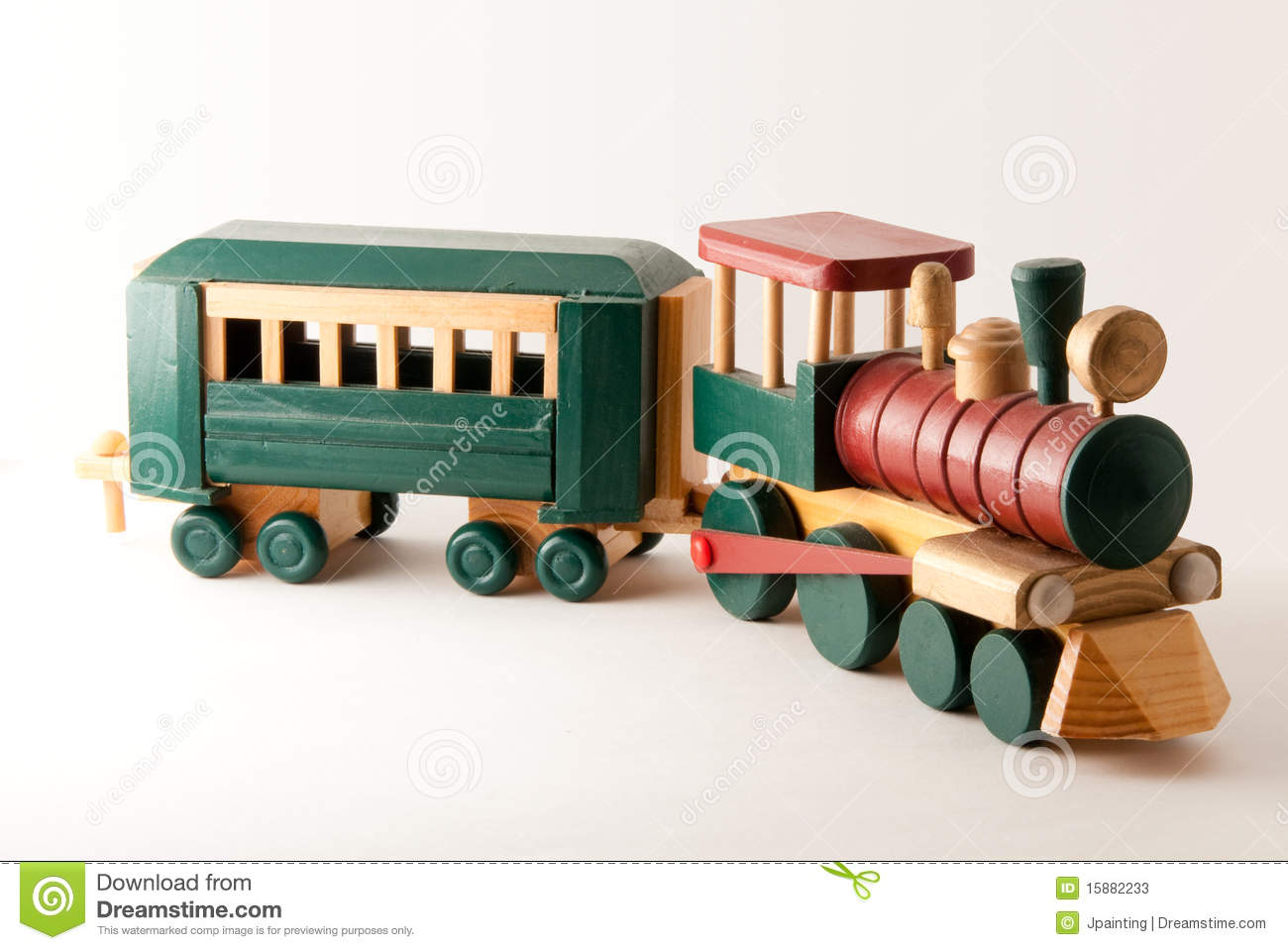 Toy Wooden Train Engine Stock Photos - Image: 15882233