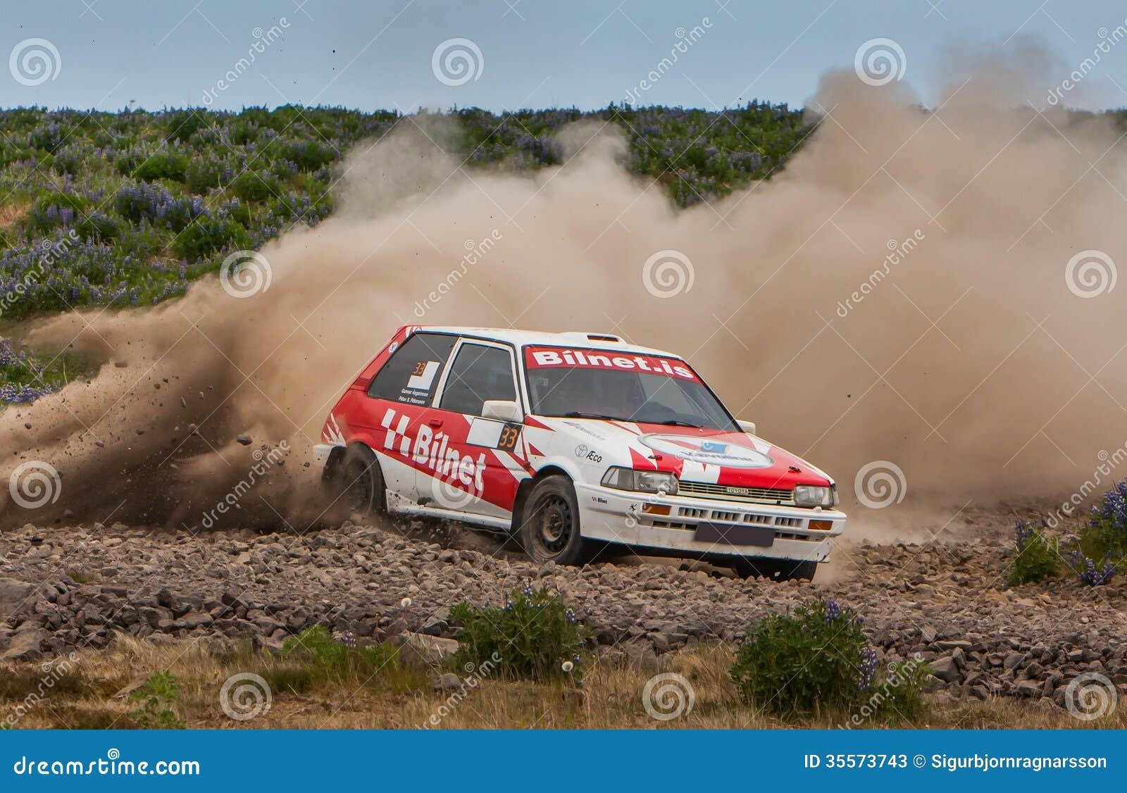 Alsko toyota corolla gti rallycar editorial stock photo - image of
