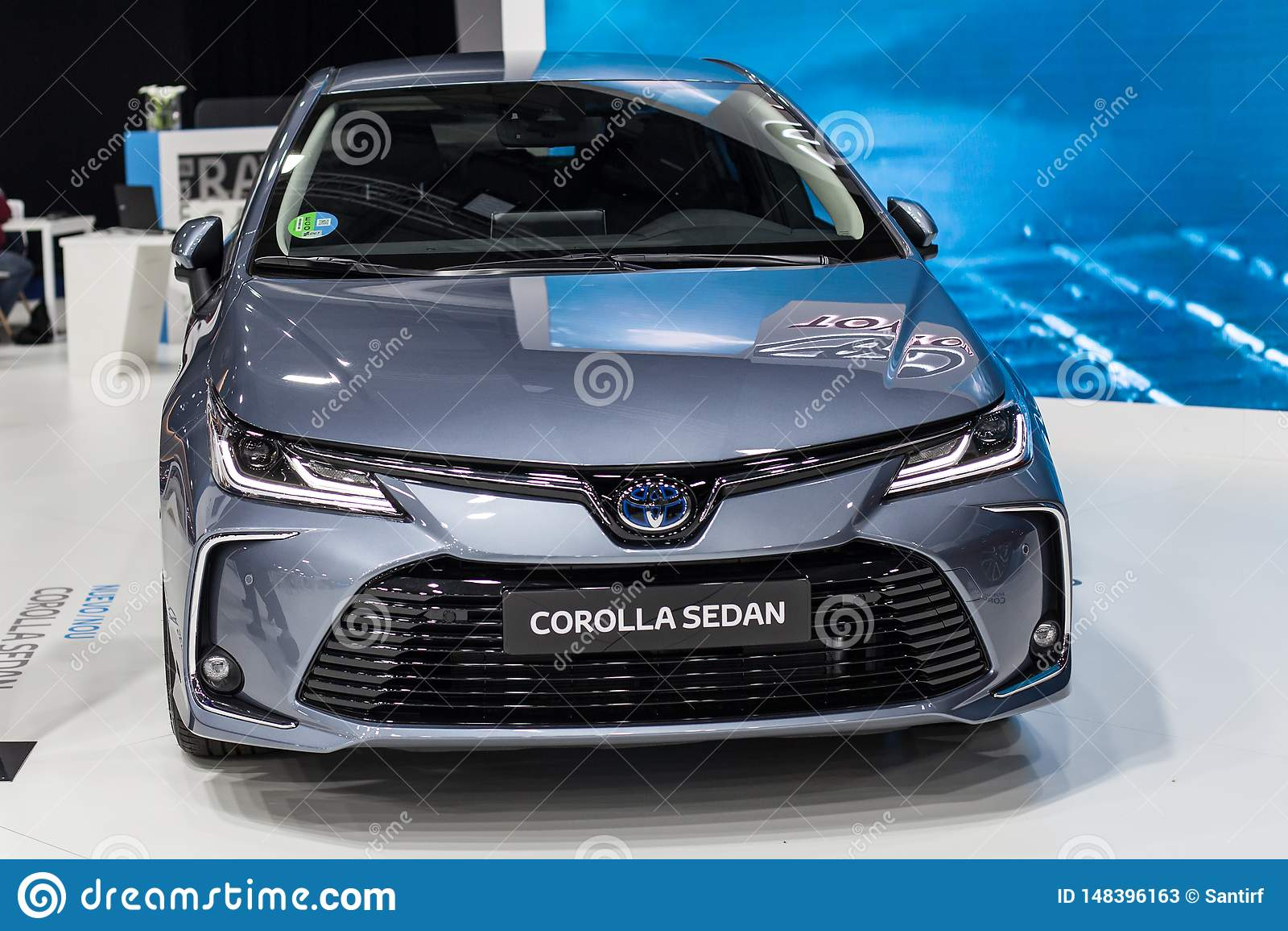 Toyota Corolla-Sedan in Automobiel Barcelona 2019