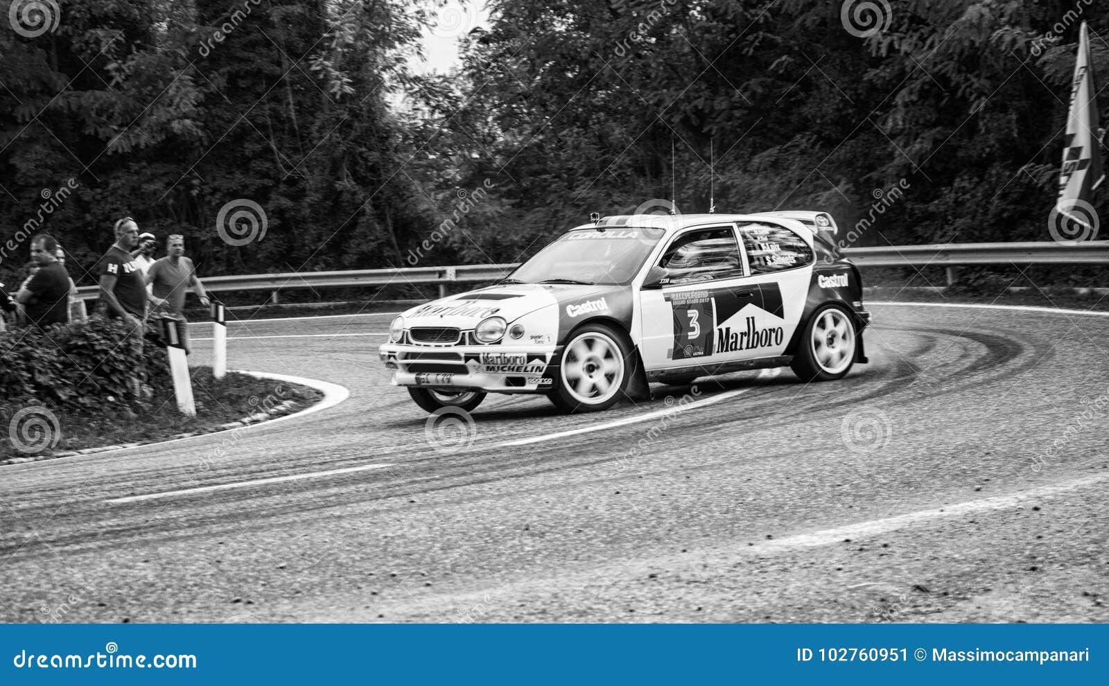 TOYOTA COROLLA WRC Old Racing Car Rally Editorial Photo - Image of ...