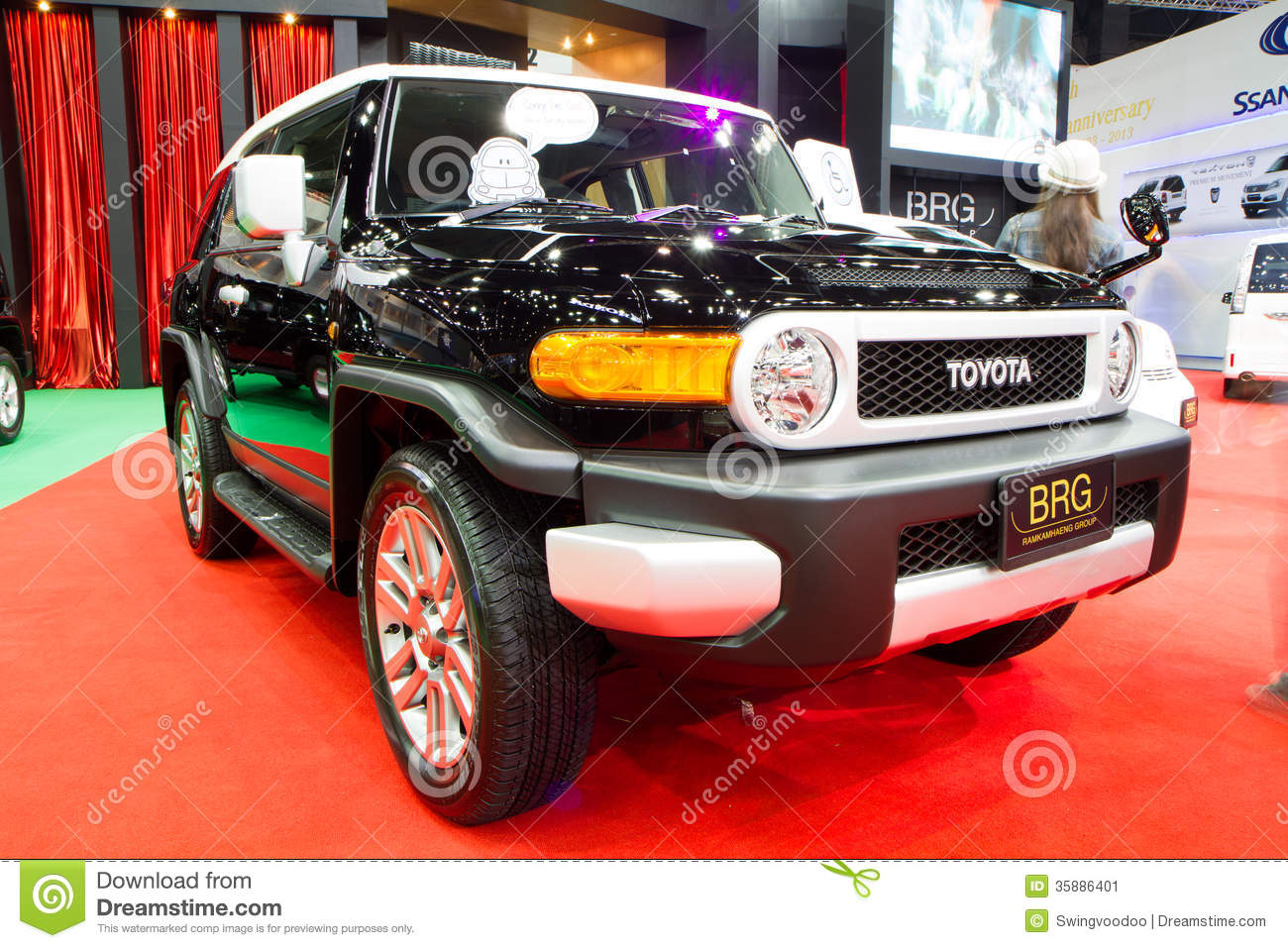 toyota fj cruiser 4x4 car on thailand international motor expo editorial photo image 35886401. Black Bedroom Furniture Sets. Home Design Ideas