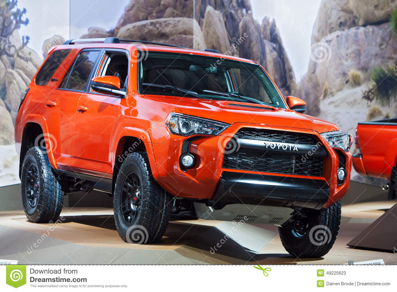 Toyota 4Runner Lifted >> Toyota Four Runner TRD PRO 2015 Detroit Auto Show Editorial Stock Photo - Image: 49225623