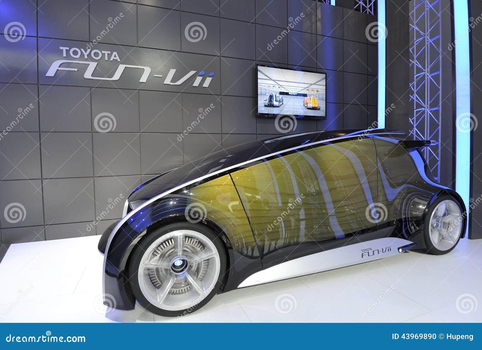 toyota fun-vii futuristic ev concept car на русском