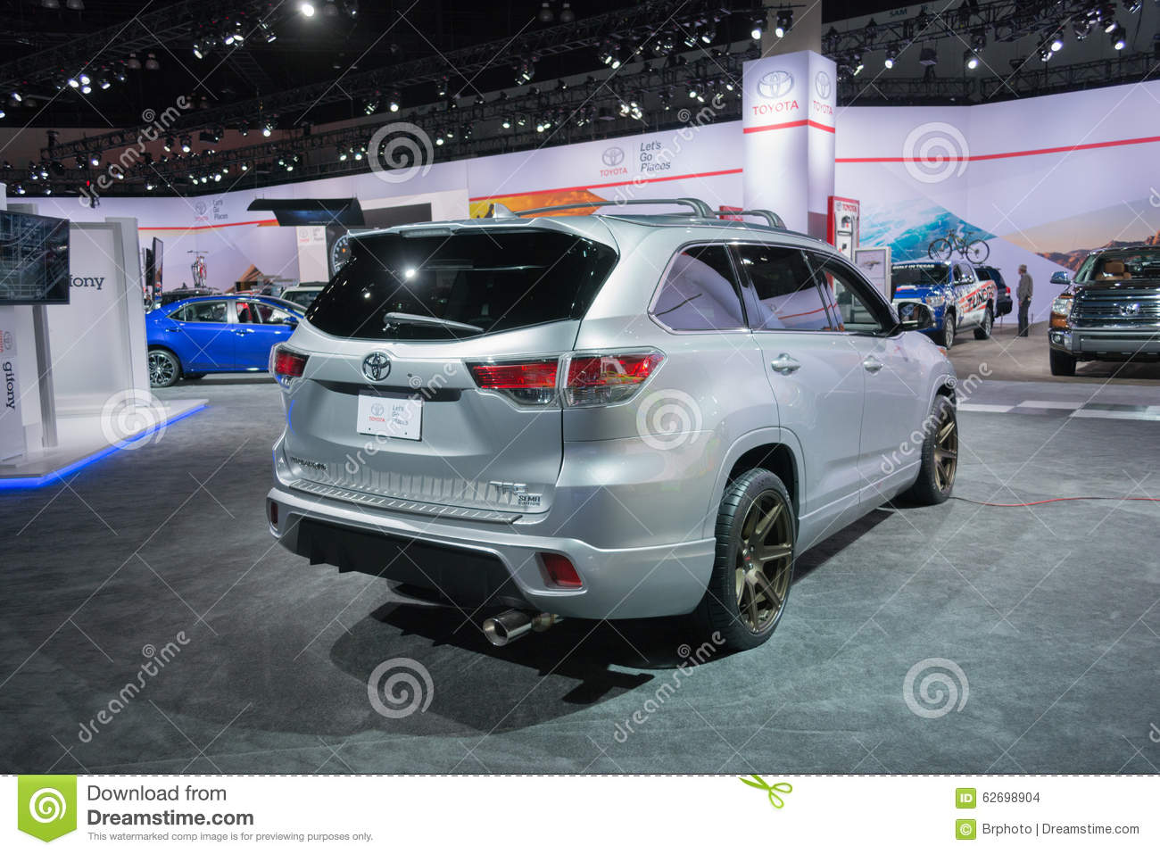 Toyota highlander trd editorial stock image image 62698904 for Dream motors los angeles