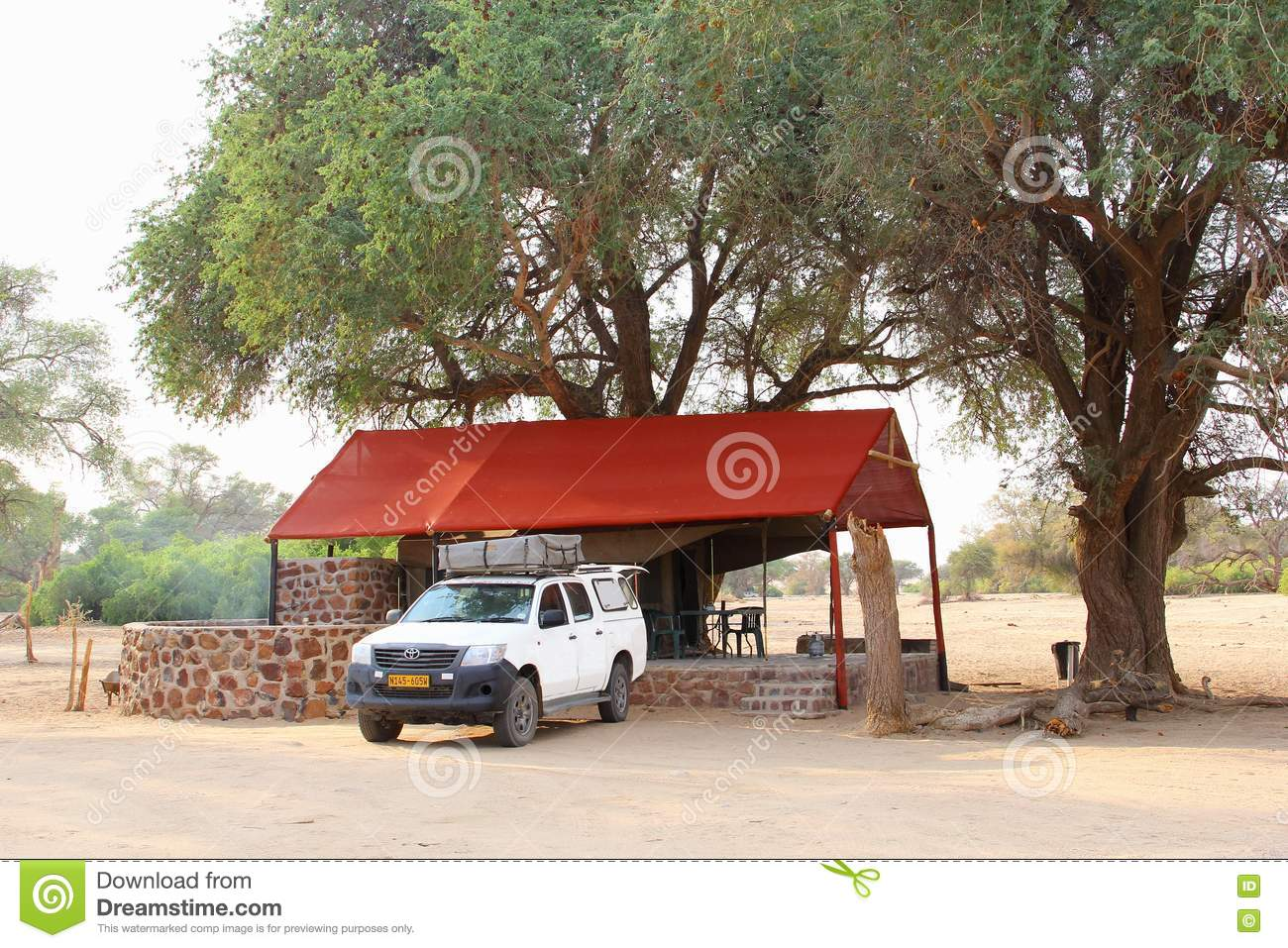 Toyota Hilux 4x4 Luxury Safari Tent Camp Damaraland Namibia Editorial Image Image Of Private Abstract 80129460