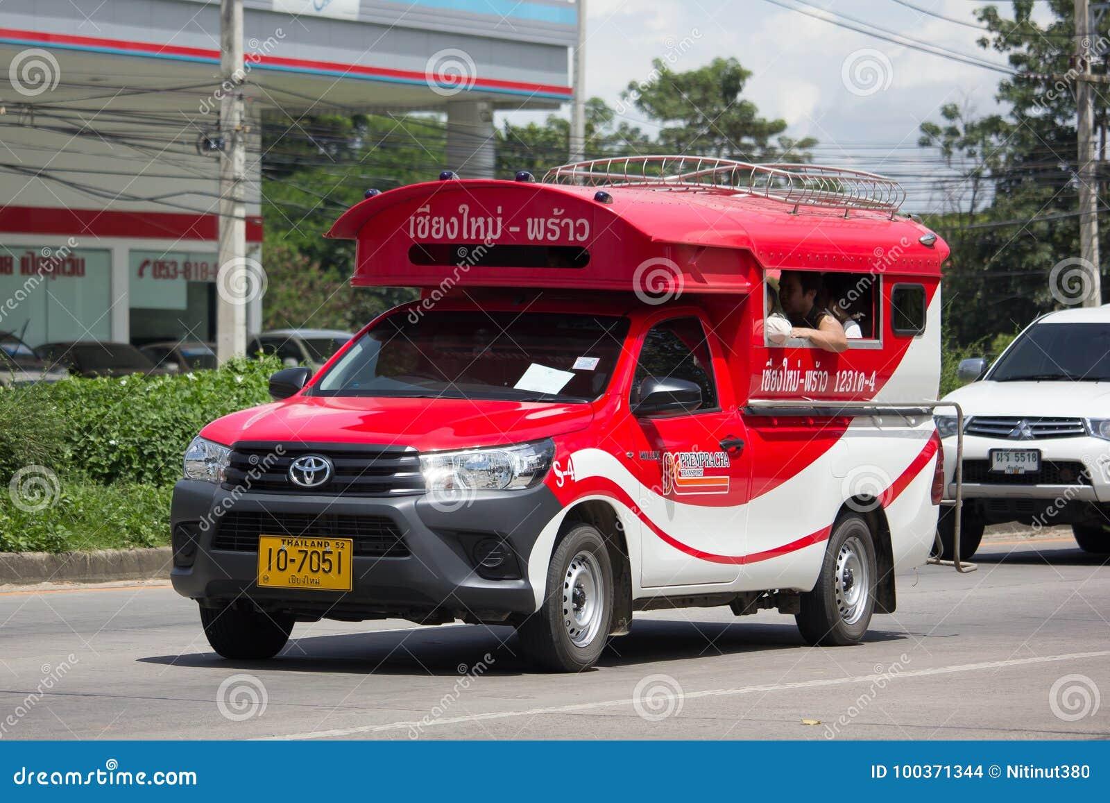 Toyota Mini Truck >> Toyota Hilux Revo Orange Mini Truck Taxi Chiangmai Editorial