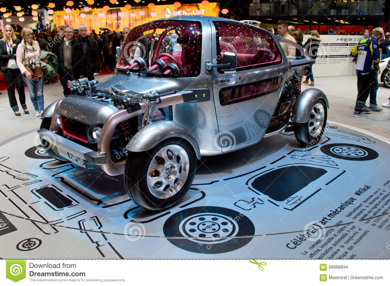 toyota kikai at geneva 2016 editorial stock image image 68988844. Black Bedroom Furniture Sets. Home Design Ideas