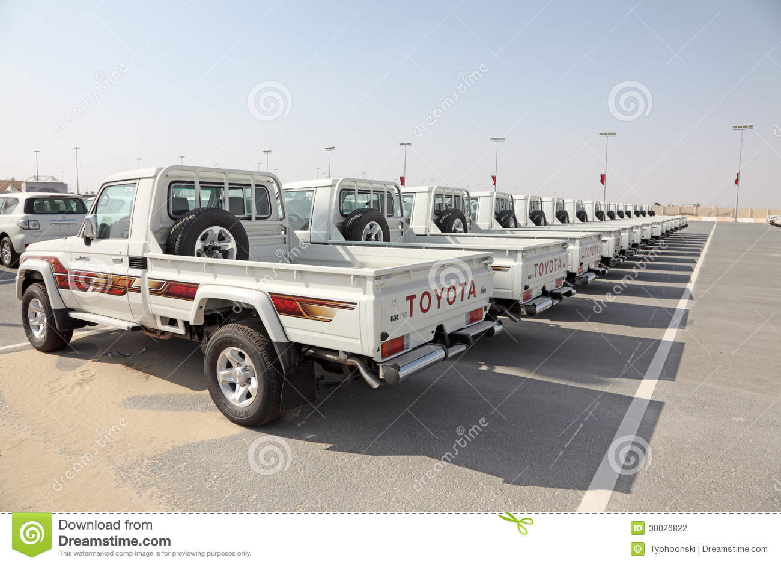 toyota land cruiser pickup trucks editorial photography