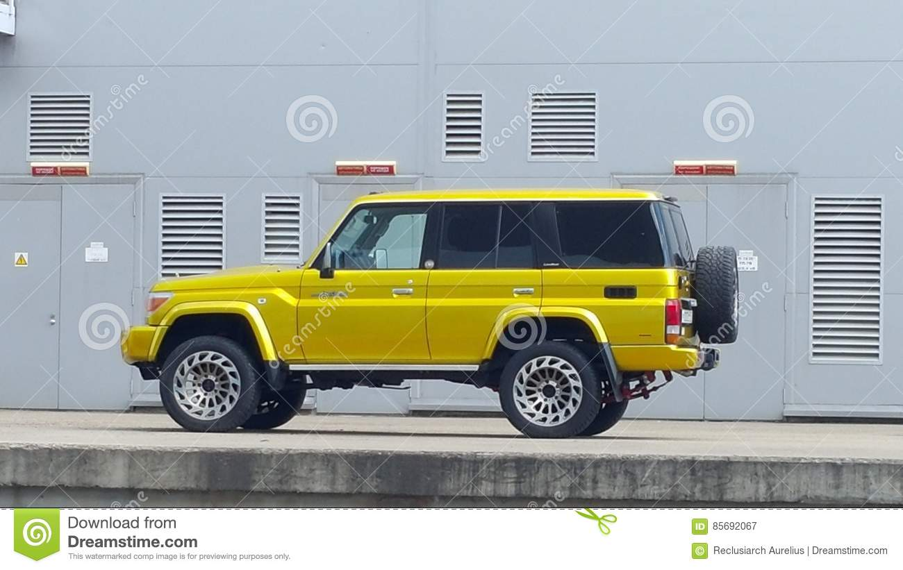 Toyota Land Cruiser 70 Stock Image Of Restyled 85692067 Series