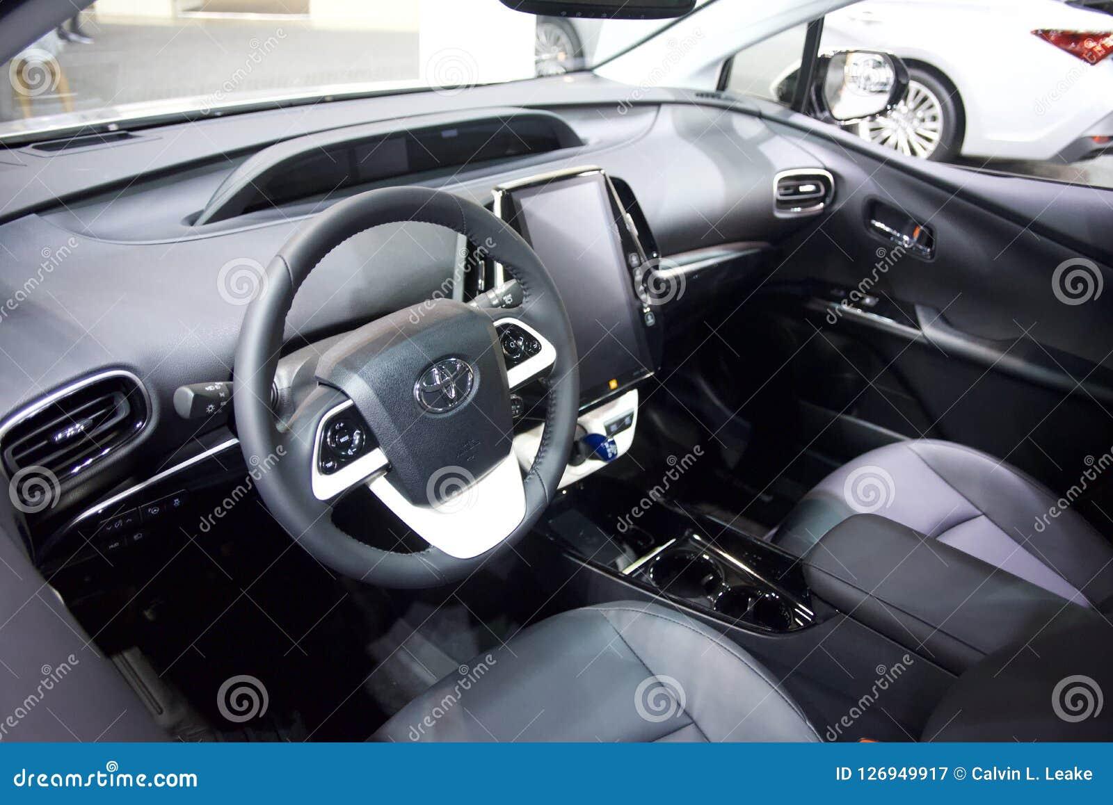 Toyota Motor Company Car Interior Editorial Photography Image Of