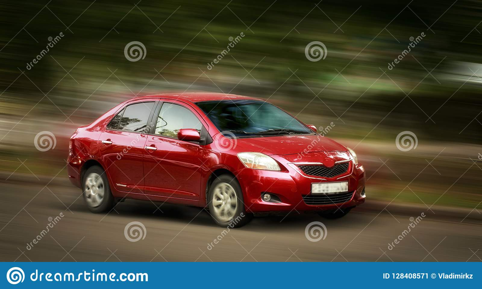 Toyota red car.