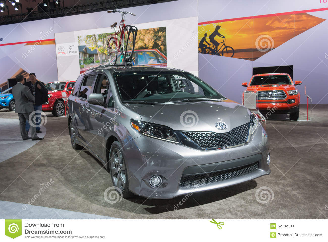 Toyota sienna 2016 editorial stock image image 62702109 for Dream motors los angeles