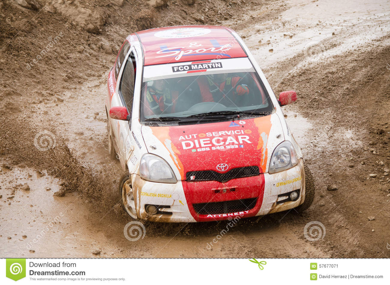 Toyota Yaris rally car. editorial photo. Image of desert - 57677071
