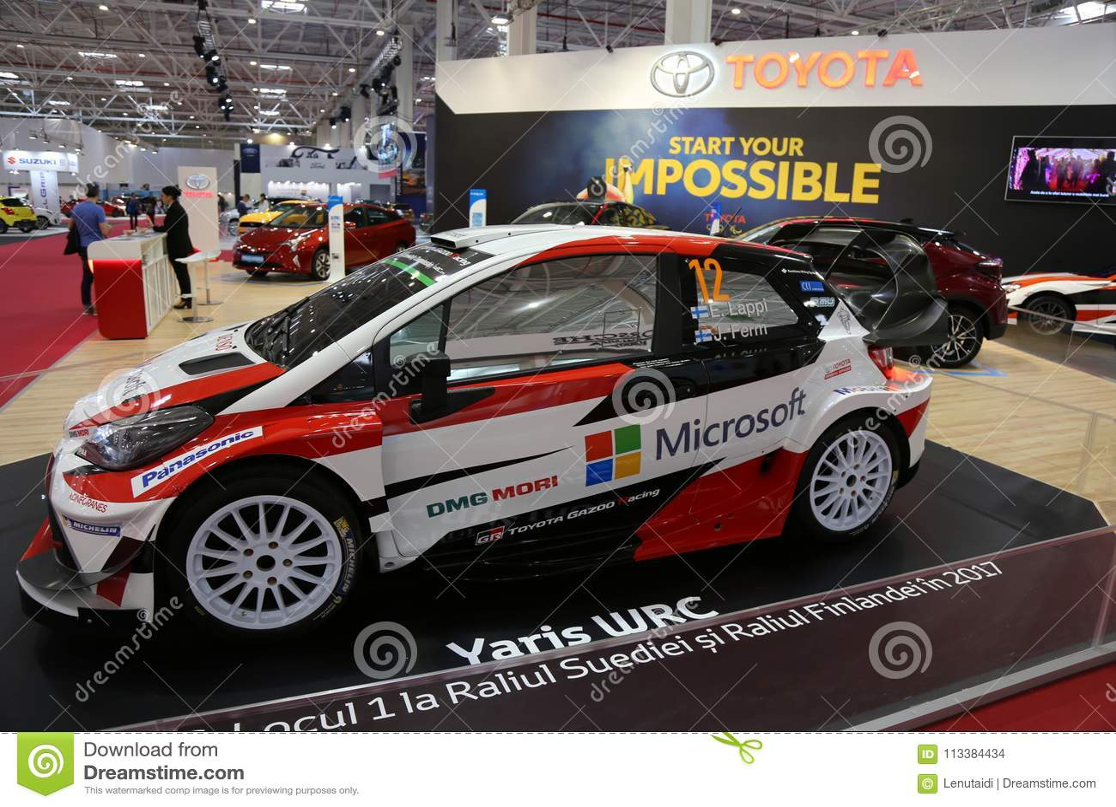 Toyota Yaris Wrc Rally At Siab 2018 Romexpo Bucharest Romania