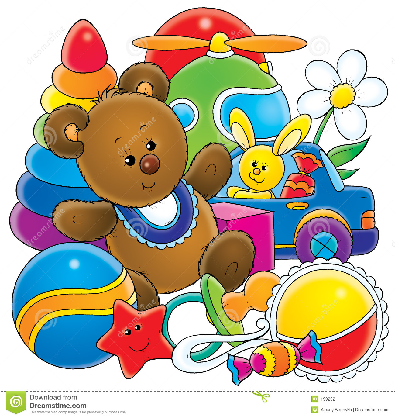 Toys stock illustration. Illustration of gifts, toys ...