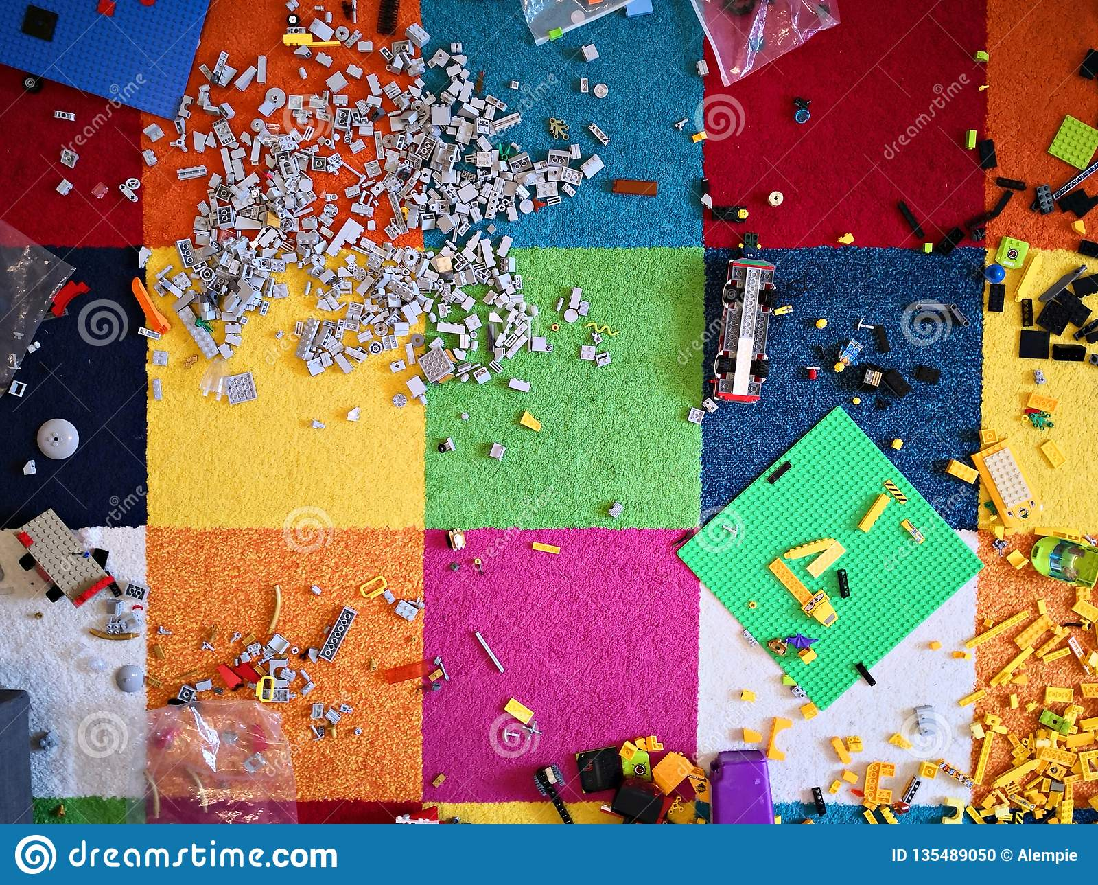 Messy kids room stock photo. Image of toys, child, puddle ...