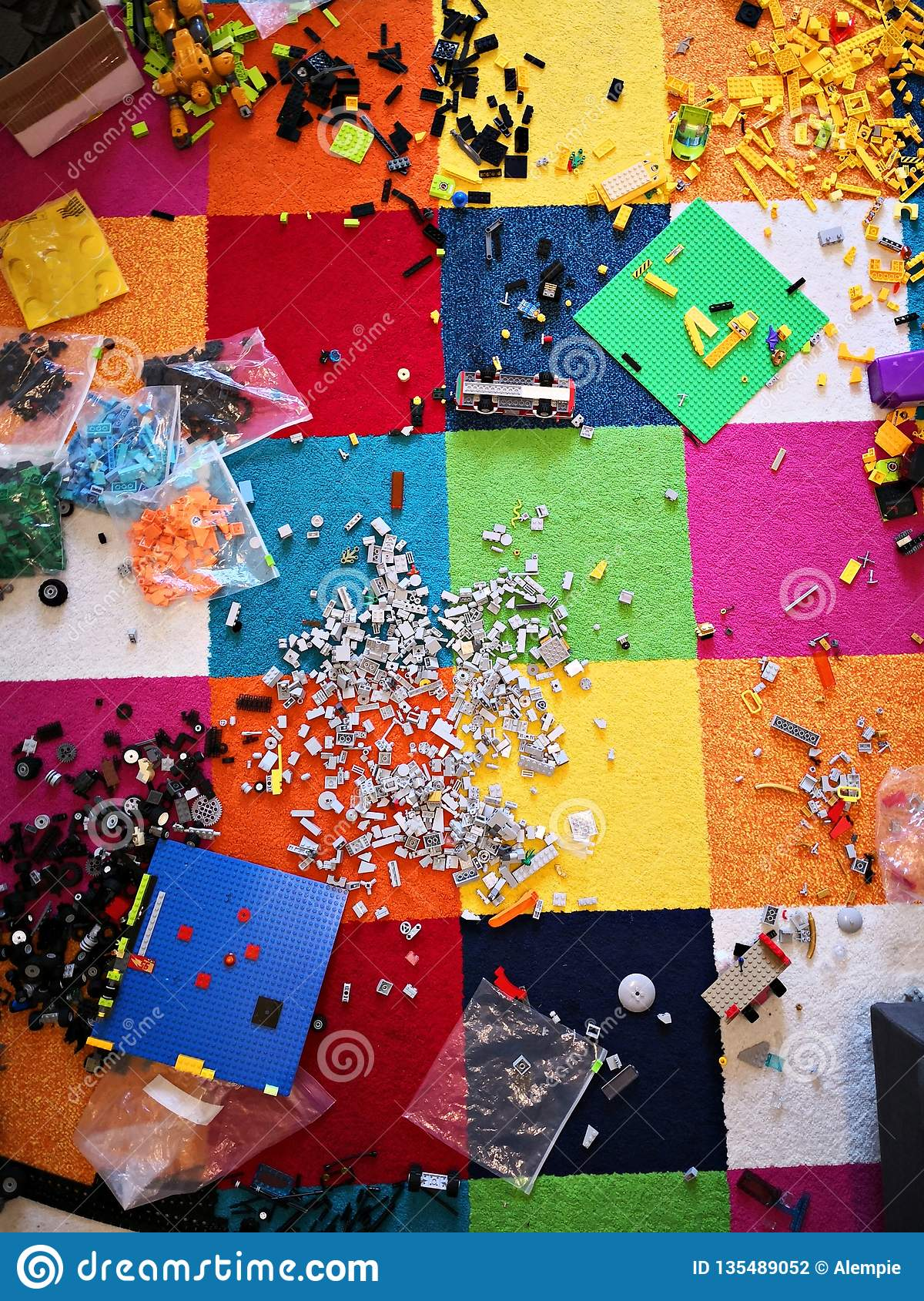 Messy kids room stock photo. Image of background, carpet ...